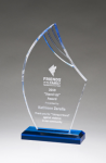 Flame Series Clear Acrylic with Blue Accents Sales Awards