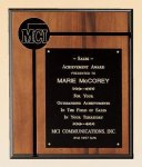 American Walnut Plaque Sales Awards
