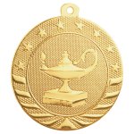 Starbrite Medal -Lamp of Knowledge Scholastic Trophy Awards