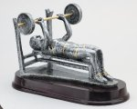 Weightlifting Bench, Female Signature Rosewood Resin Trophy Awards