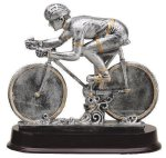 Racing Bike Signature Rosewood Resin Trophy Awards