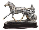 Harness Racing-Sulky Signature Rosewood Resin Trophy Awards