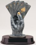 Hand Of Cards Signature Rosewood Resin Trophy Awards