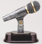 Microphone Signature Rosewood Resin Trophy Awards