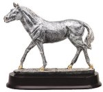 Walking Horse Signature Rosewood Resin Trophy Awards