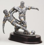 Soccer Double Action Soccer Trophy Awards