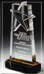 Gold Lasered Star Accent On Base Star Awards