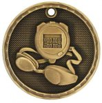 3-D Medal -Swimming  Swimming Trophy Awards
