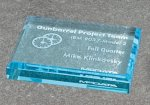 Paper Weight - Straight Bevel Traditional Acrylic Awards