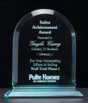Arch Series Acrylic Award on Acrylic Base. Traditional Acrylic Awards