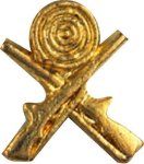 Crossed Rifles Pin Trapshooting Trophy Awards