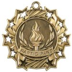 Ten Star Medal -Participant Volleyball Trophy Awards