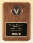 American Walnut Plaque with Eagle Medallion Walnut Plaques