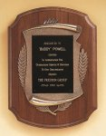 American Walnut Plaque with Antique Bronze Frame Walnut Plaques