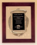 Rosewood Piano Finish Frame Plaque with Cast Relief Wreath Awards