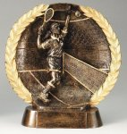 Resin Plate -Tennis Female Wreath Mini Resin Trophy Awards