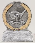 Golf Longest Drive With Gold Wreath Resin Trophy Awards